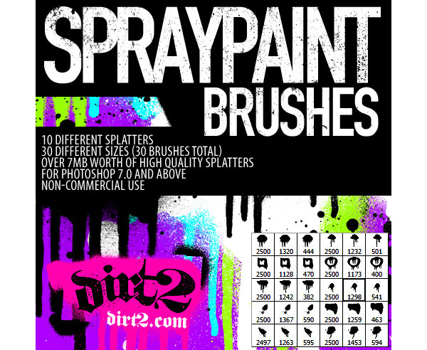 Hi Res PS7 Splatter Brushes