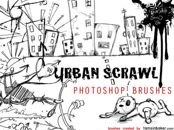Urban Scrawl Brush Pack