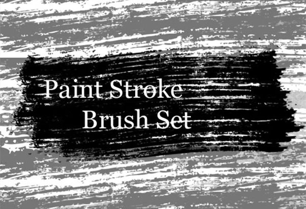 Grungy Paint Stroke Photoshop Brush Set