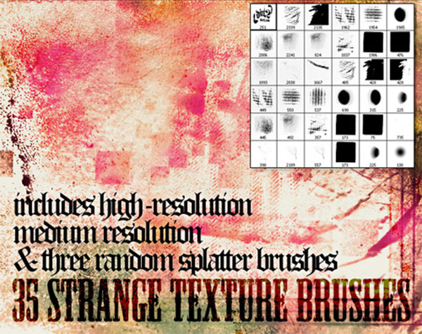 Texturitus - Photoshop Texture Brushes