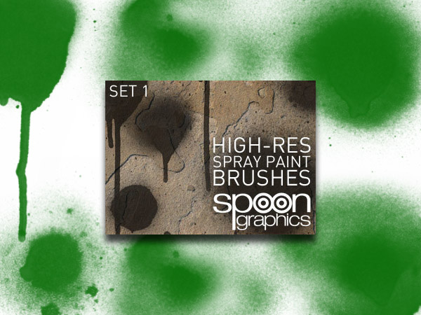 Hi-Res Spraypaint Brushes Set 1