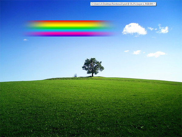 How to Add a Realistic Rainbow Effect to a Photo 7