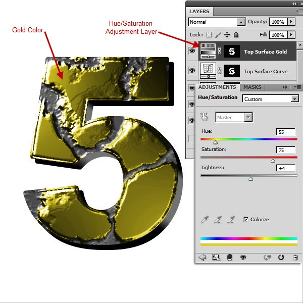 Create an Advanced Eroded Gold Effect 37
