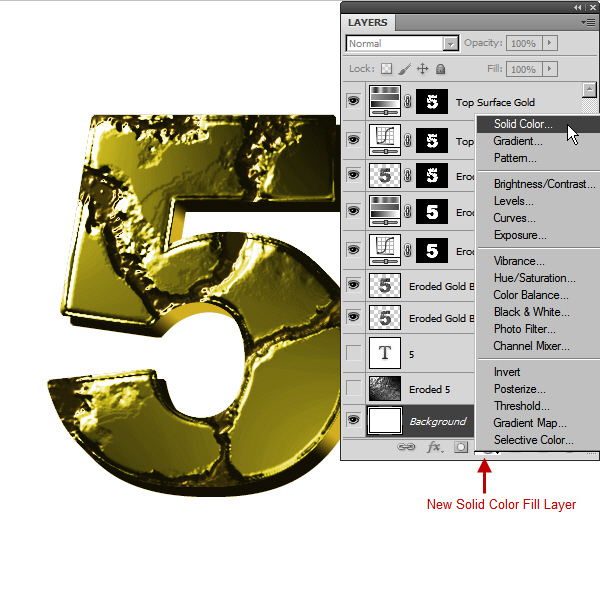 Create an Advanced Eroded Gold Effect 40