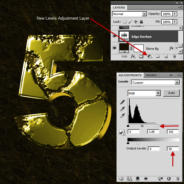Create an Advanced Eroded Gold Effect 44
