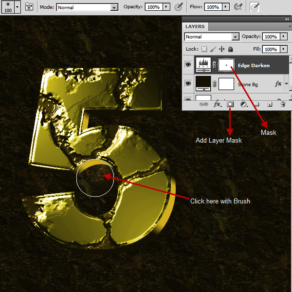 Create an Advanced Eroded Gold Effect 45