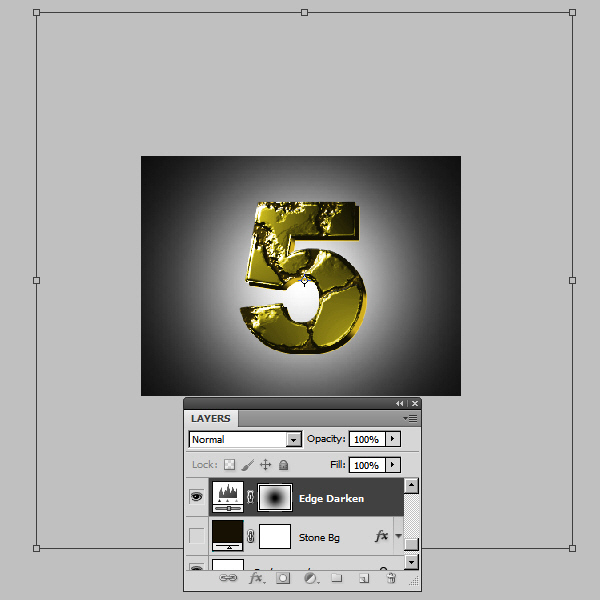 Create an Advanced Eroded Gold Effect 46
