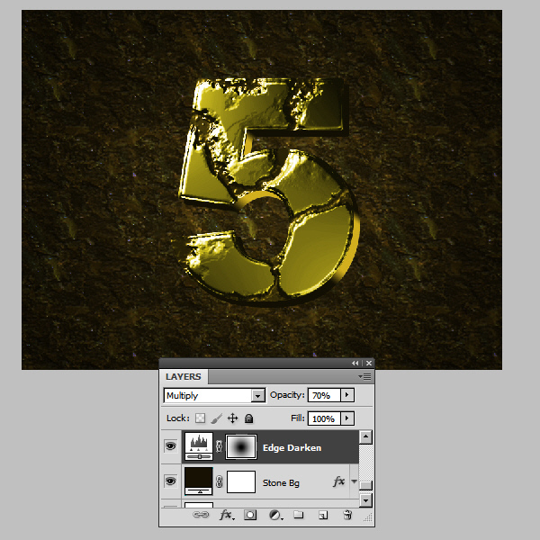 Create an Advanced Eroded Gold Effect 47