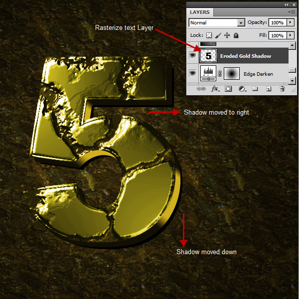 Create an Advanced Eroded Gold Effect 48