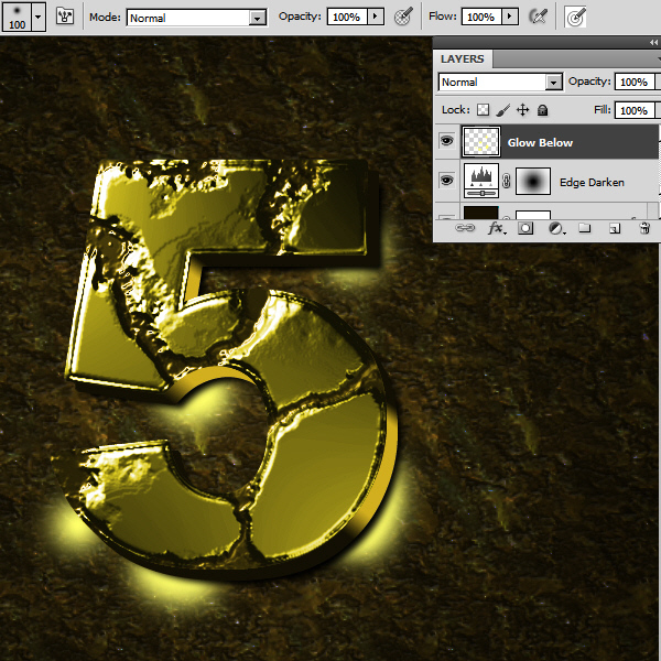 Create an Advanced Eroded Gold Effect 50