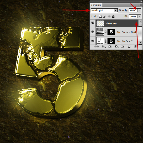 Create an Advanced Eroded Gold Effect 51