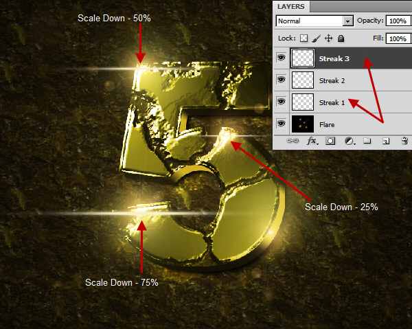 Create an Advanced Eroded Gold Effect 59