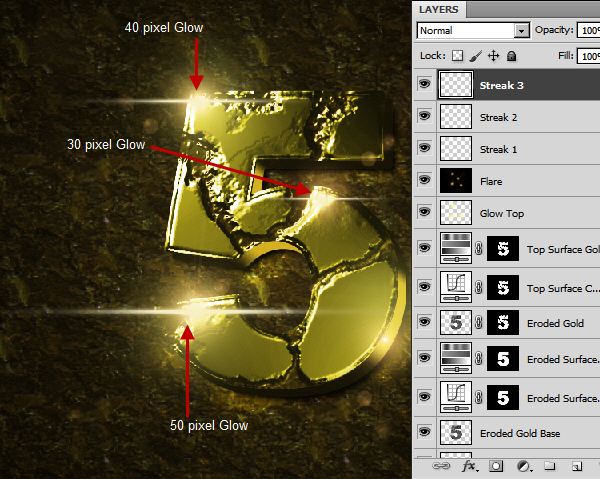 Create an Advanced Eroded Gold Effect 60
