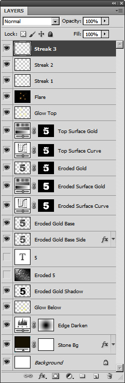 Create an Advanced Eroded Gold Effect 61