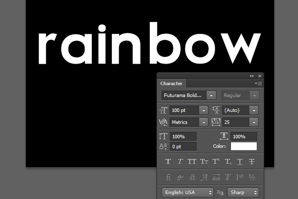 Bright Rainbow Text Effect 1