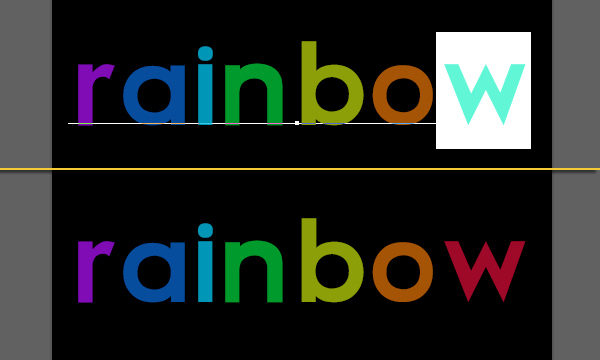 Bright Rainbow Text Effect 2