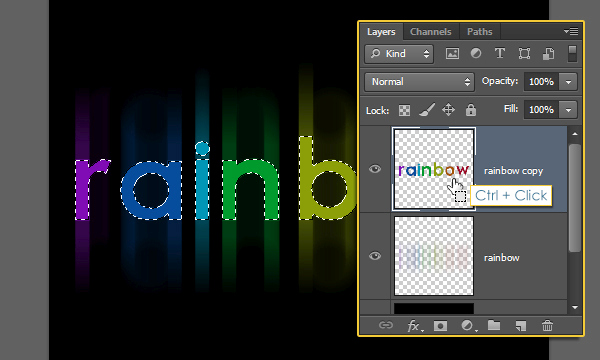 Bright Rainbow Text Effect 5