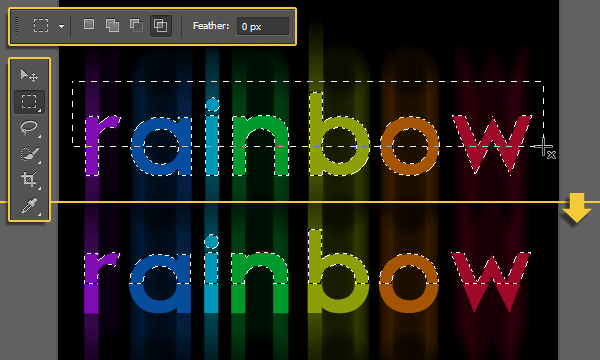 Bright Rainbow Text Effect 6