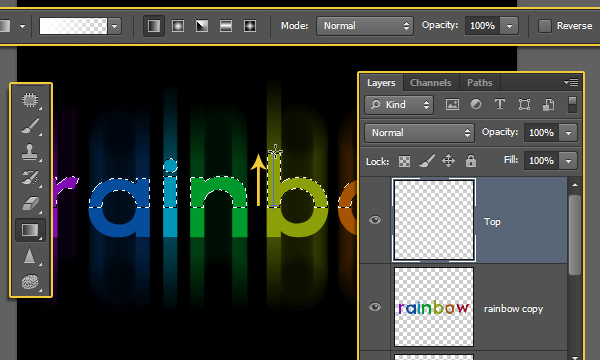 Bright Rainbow Text Effect 7