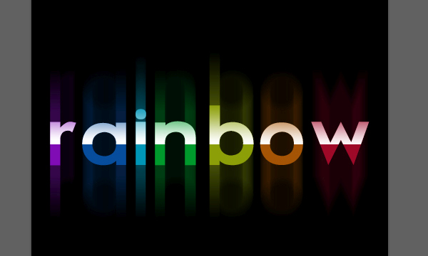 Bright Rainbow Text Effect 8