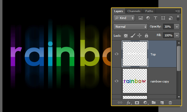 Bright Rainbow Text Effect 9
