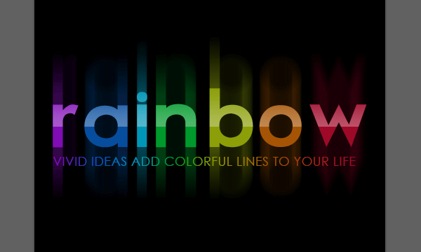 Bright Rainbow Text Effect 13