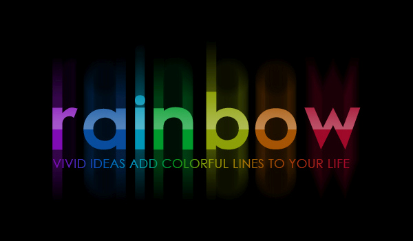 Bright Rainbow Text Effect