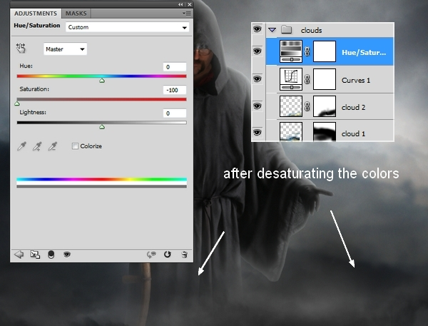 Create A Dark Grim Reaper Scene in Photoshop
