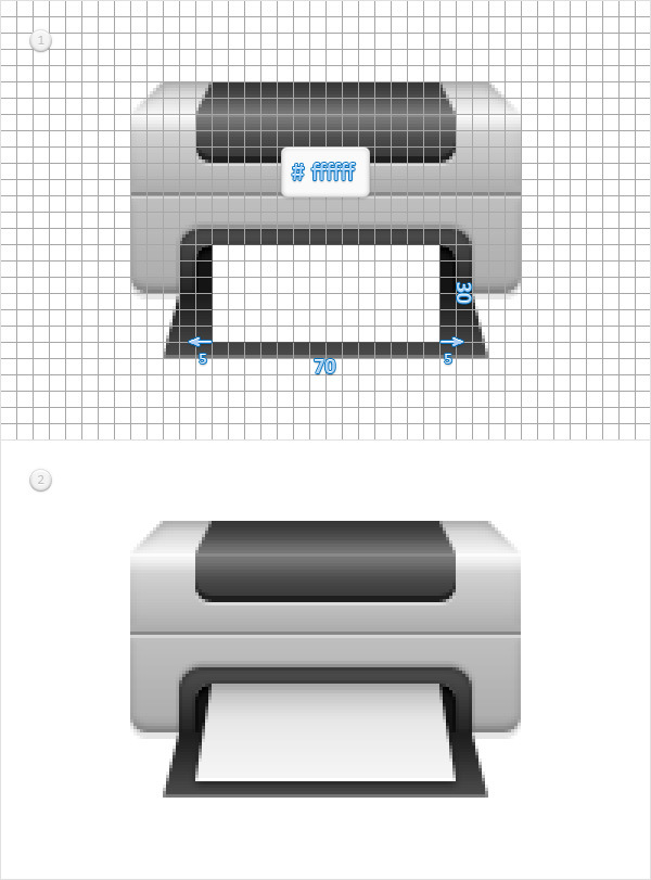Create a Printer Icon in Adobe Photoshop 12