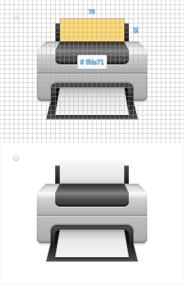 Create a Printer Icon in Adobe Photoshop 14