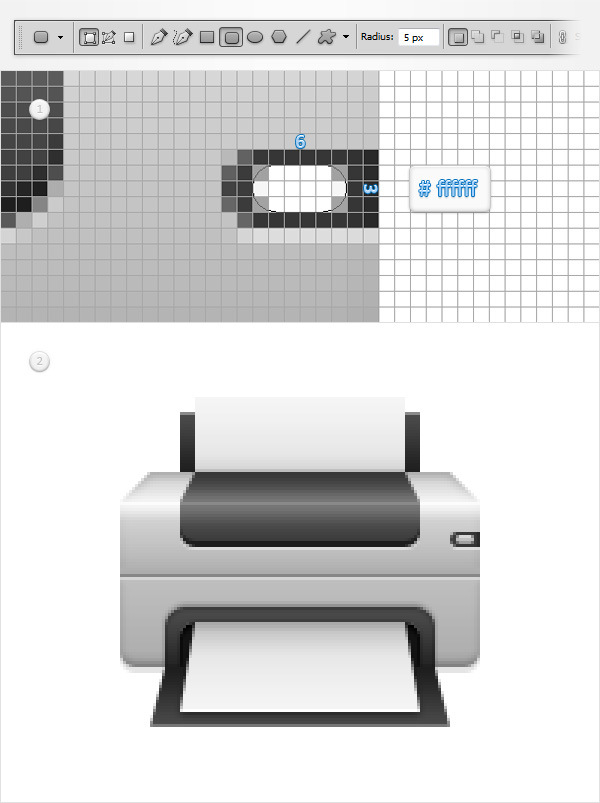 Create a Printer Icon in Adobe Photoshop 17