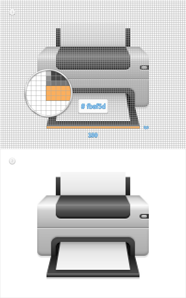 Create a Printer Icon in Adobe Photoshop 18
