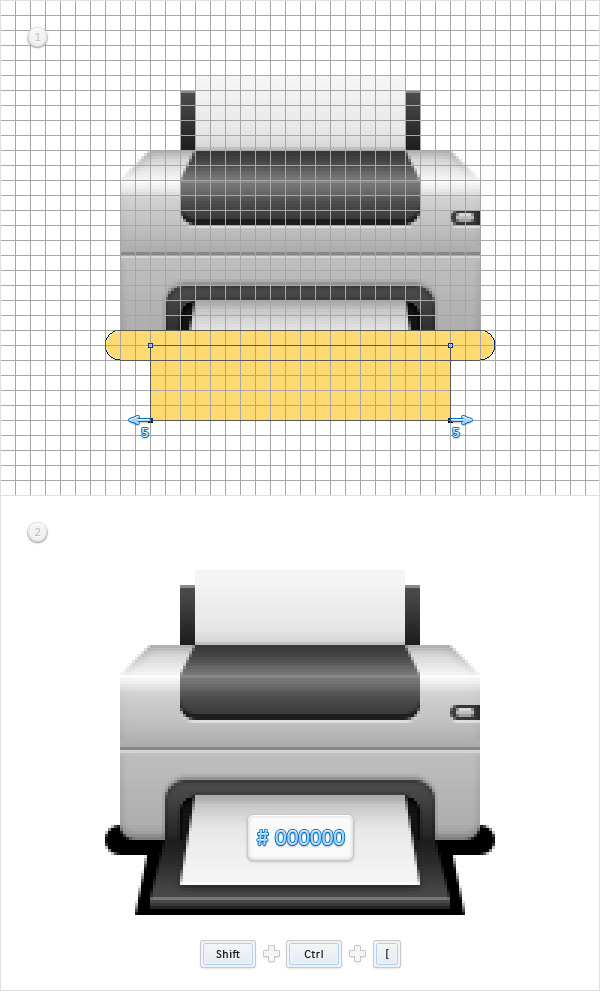Create a Printer Icon in Adobe Photoshop 20