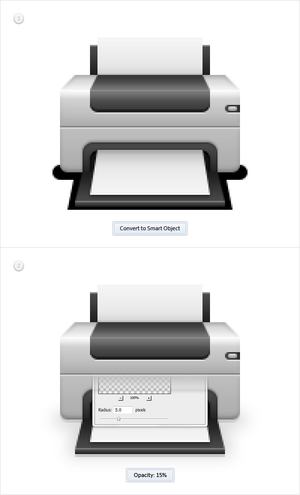 Create a Printer Icon in Adobe Photoshop 21