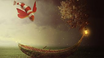 Create a Fantasy Boat Scene Photo Manipulation