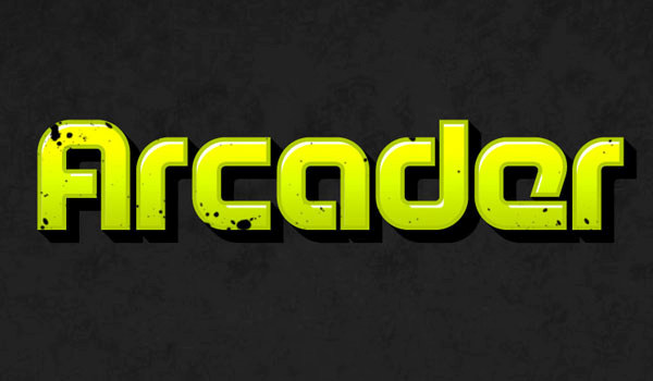 How to Create Arcade Text Effect