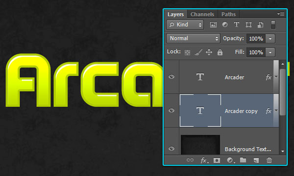 How to Create Arcade Text Effect 9