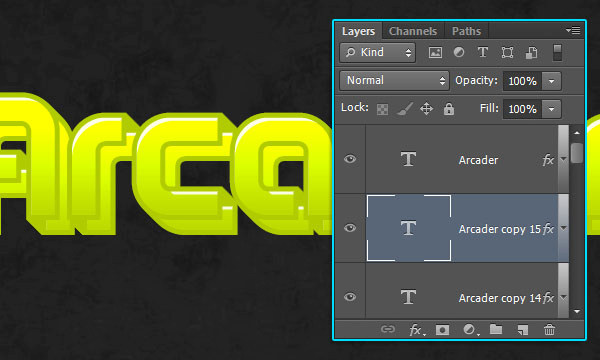 How to Create Arcade Text Effect 11