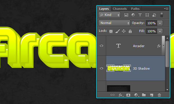 How to Create Arcade Text Effect 12