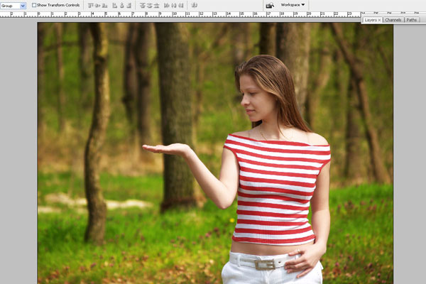 Create a Forest Fairy Using Artistic Photo Processing 5