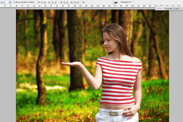 Create a Forest Fairy Using Artistic Photo Processing 7