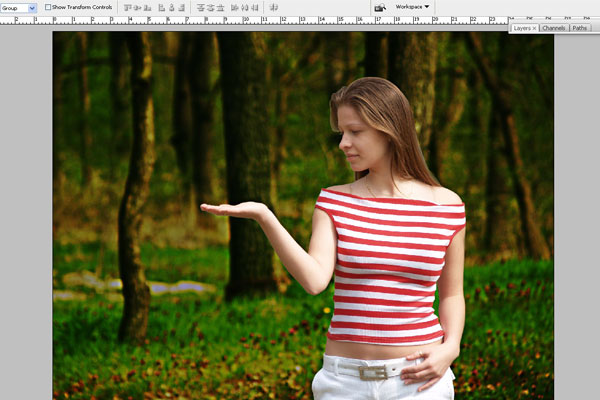 Create a Forest Fairy Using Artistic Photo Processing 12