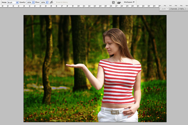 Create a Forest Fairy Using Artistic Photo Processing 13