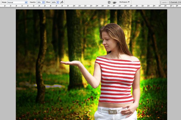 Create a Forest Fairy Using Artistic Photo Processing 15