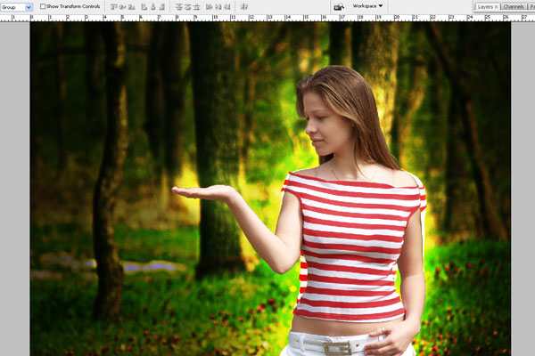 Create a Forest Fairy Using Artistic Photo Processing 18
