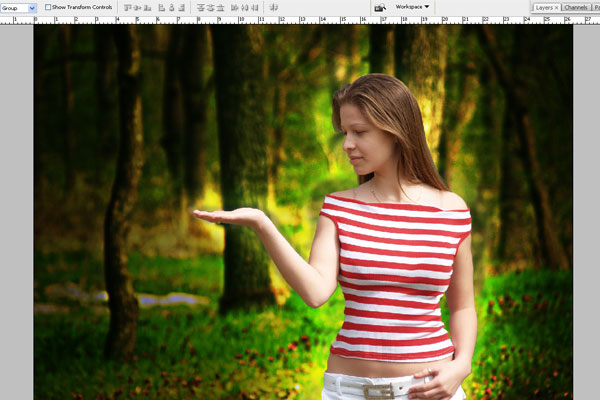 Create a Forest Fairy Using Artistic Photo Processing 19