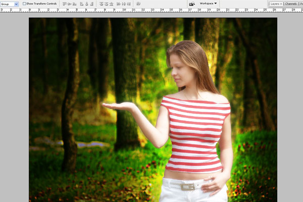 Create a Forest Fairy Using Artistic Photo Processing 25