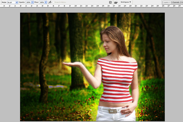 Create a Forest Fairy Using Artistic Photo Processing 29
