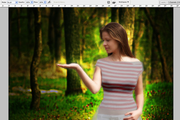Create a Forest Fairy Using Artistic Photo Processing 40