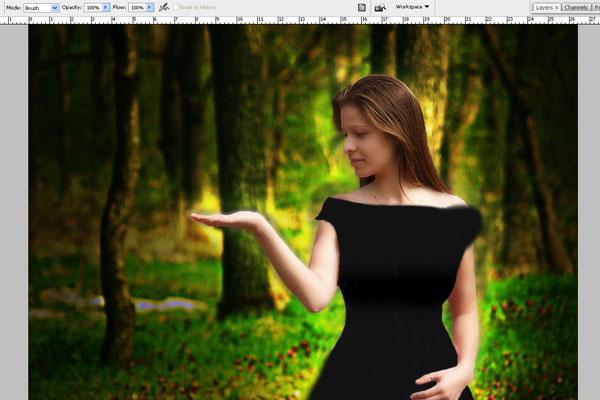 Create a Forest Fairy Using Artistic Photo Processing 41